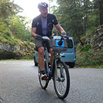 Rob Holden on Boris Bike in the south of France
