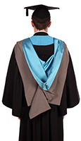 Postgraduate degree gown (back)