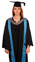 Masters degree gown (front)