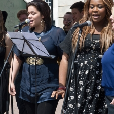 Kingston University Twist singers performing at the Edinburgh Fringe Festival