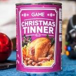 Graphic designer concocts Christmas dinner in a tin to help banish gamers' hunger pangs