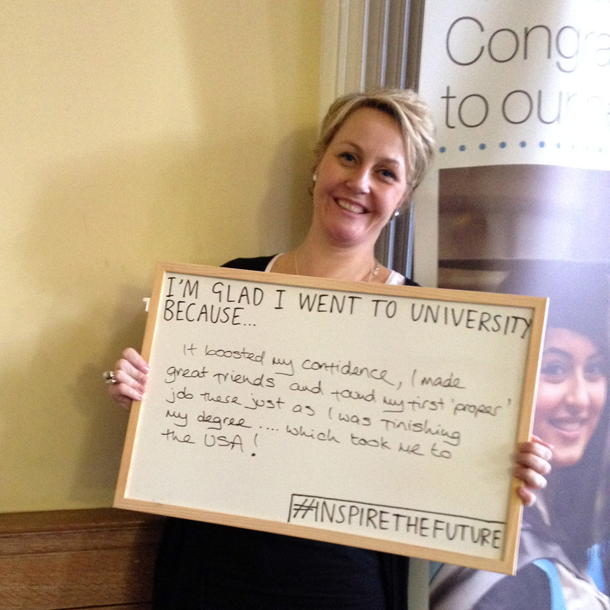 It boosted my confidence, I made great friends and found my first proper 'job' just as I was finishing my degree... which took me to the USA! (Anne Keetch)