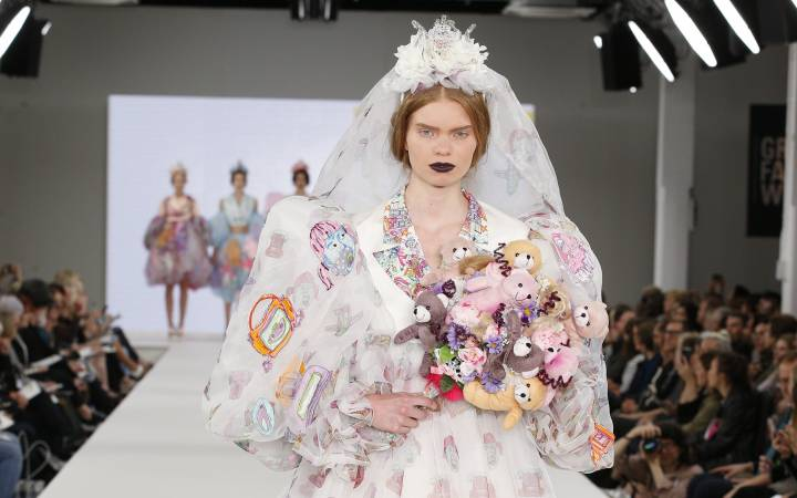 Kingston School of Art fashion graduate Kate Clark's collection goes on show in New York as part of Graduate Fashion Week spectacular