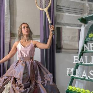 Designers serve up a treat as fashion collections dress Wimbledon windows to mark start of tennis tournament and wow Kingston shoppers in Bentalls showcase