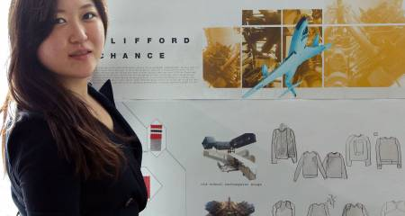 Kingston University Fashion MA students give the Clifford Chance graduate hoodie a makeover
