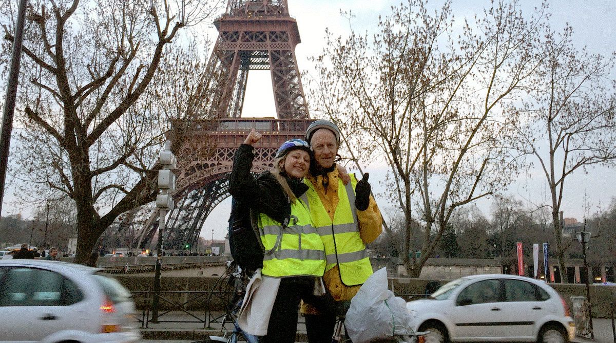 Fundraising criminology student cycles to Paris to help tackle youth violence