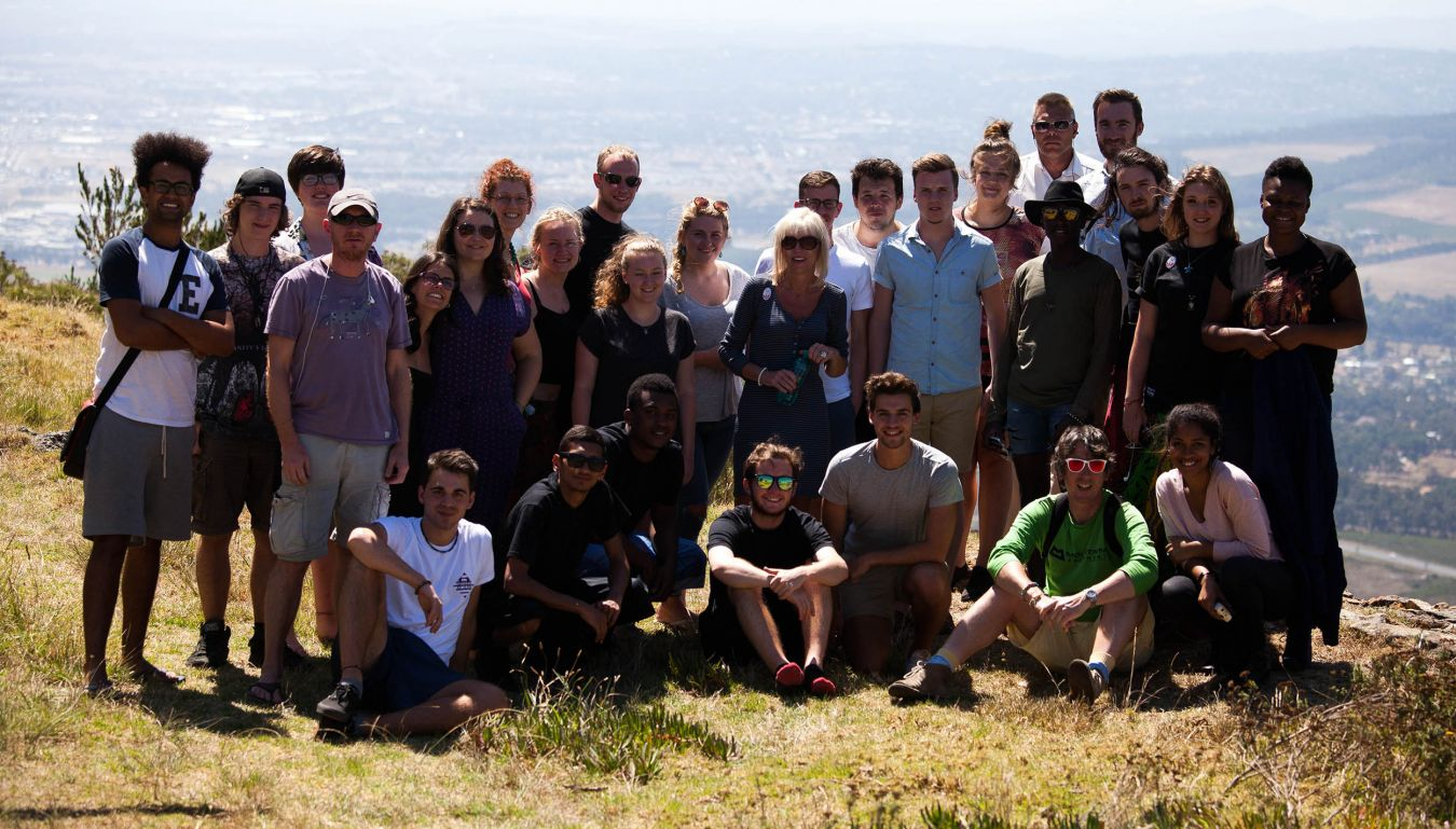 The school of Geography, Geology and the Environment students on their trip to South Africa - Photo courtesy of Corinne Cumming