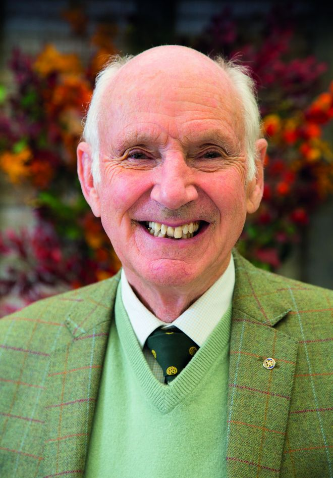 Colin Squire was recognised for his extensive horticultural expertise and his tireless charity work