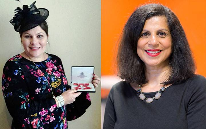 Kingston University diversity and outreach champions receive Queen's Birthday Honours awards during royal palace investiture ceremonies