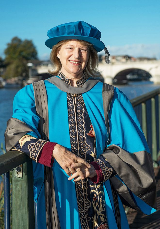 Baroness Nicholson received an Honorary Doctorate of Letters in recognition of her outstanding contribution to international relations and human rights, particularly those of women in post-conflict and oppressed societies.