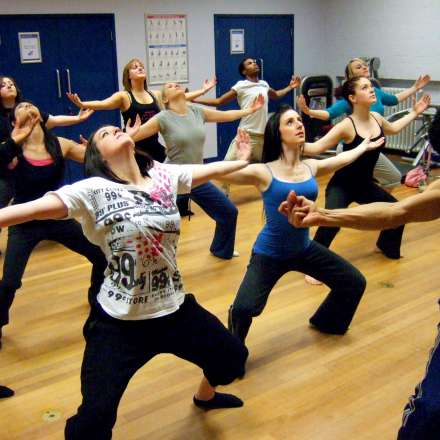 Exercise class in the studio