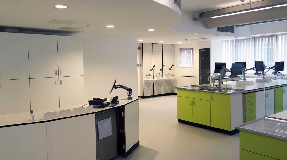 New science laboratories set to open at Kingston University as first stage of £6.8m project part-funded by Government grant nears completion