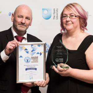 Inspirational Kingston University postgraduate student and educator picks up top honour at Social Worker of the Year Awards