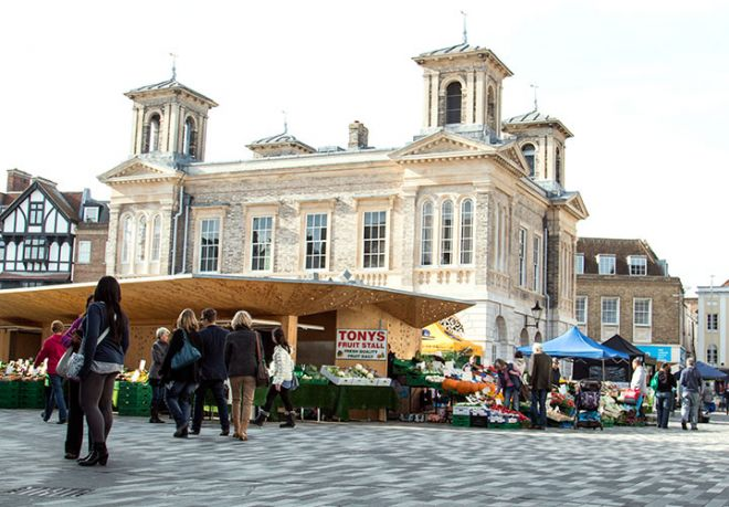 Kingston\'s historic marketplace