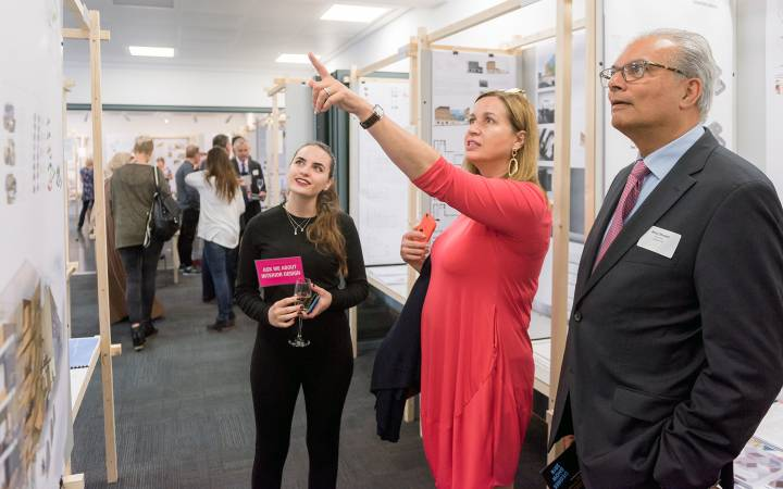 Civic reception shines spotlight on Kingston University's contribution to the local community and showcases array of art and design talent