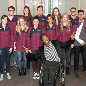 Paralympian Ade Adepitan encourages talented students to make the most of Kingston University's sports performance programme