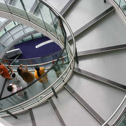 Stairwell inside City Hall, home of the Greater London Assembly (GLA)