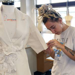 From Hollywood glamour to regal splendour – Kingston School of Art fashion students showcase their own takes on a royal wedding dress for Meghan Markle