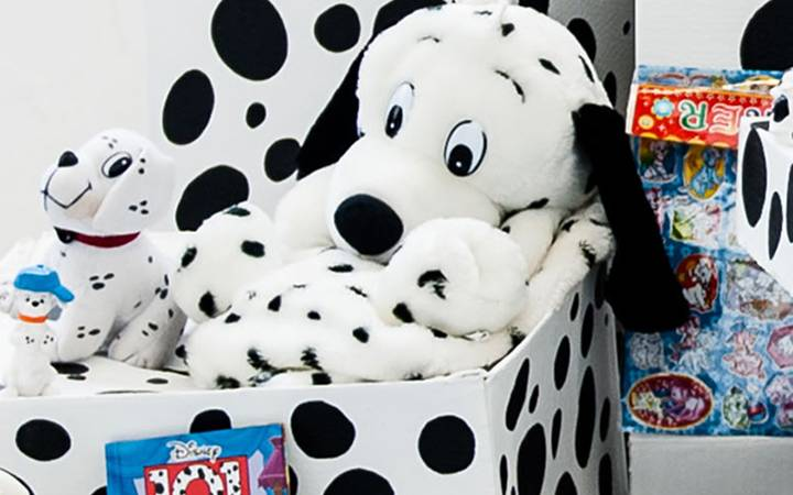 Fine art graduate gets it spot on with 101 Dalmatian-inspired installation.