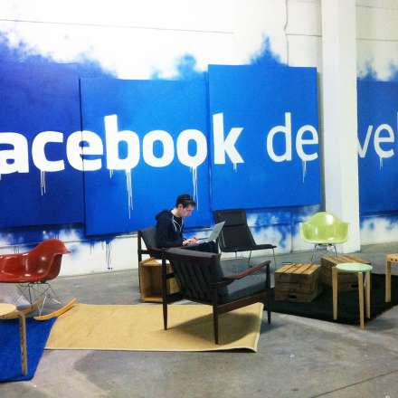 Product and Furniture Design students designed furniture and space for Facebook Developers' Conference