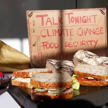 Talk tonight: climate change and food security