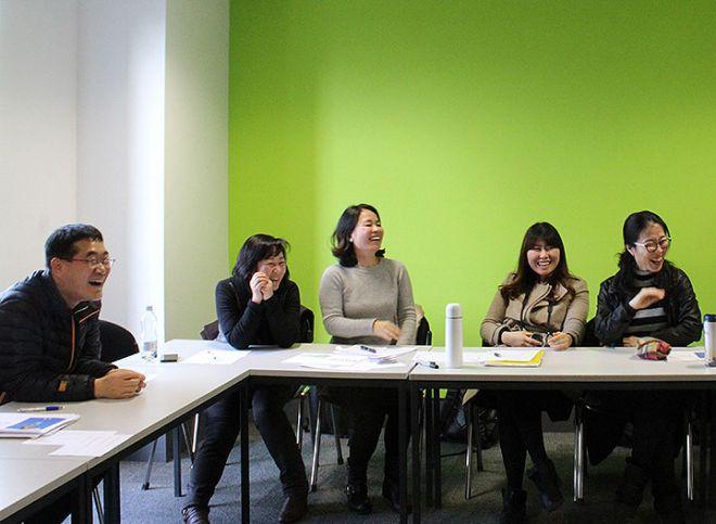 Korean English teaching students