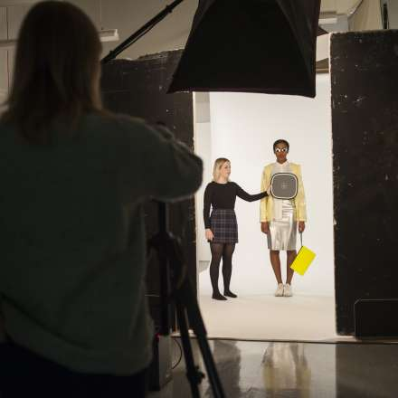 Students using our photography studio