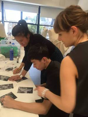 AIP Foundation art students at work
