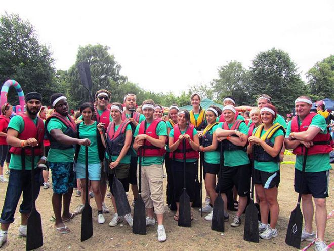 Dragon boat racing team