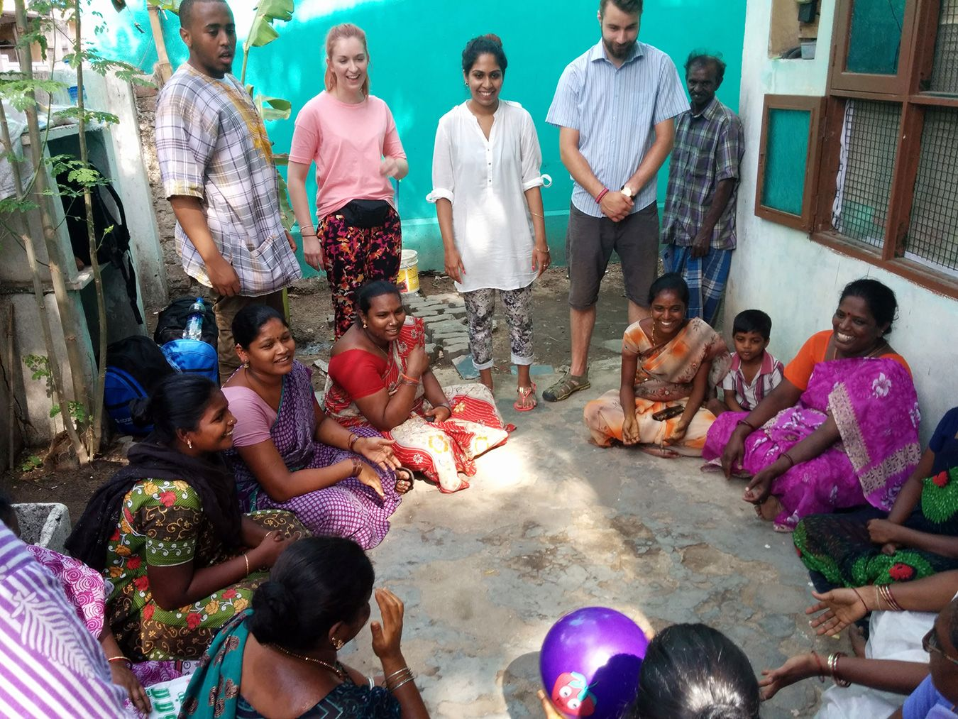 The Kingston University volunteers ran English lessons for mothers whose families had been displaced by the 2004 tsunami.