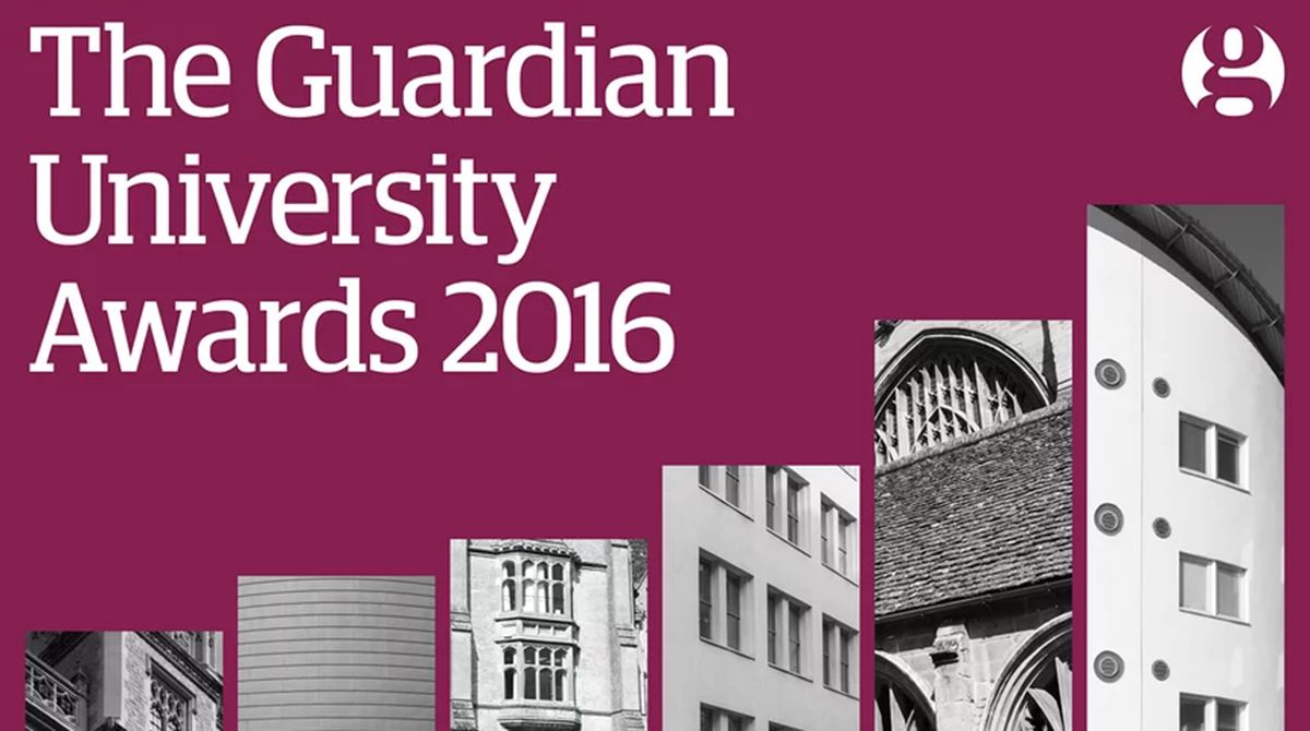 Kingston University scores success for third year running at Guardian newspaper's 2016 Awards