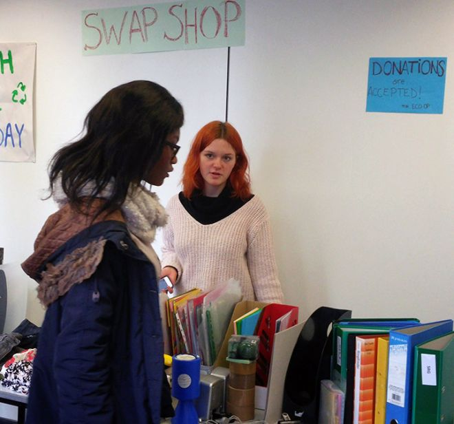 Swap shop stall, trash-free Thursday