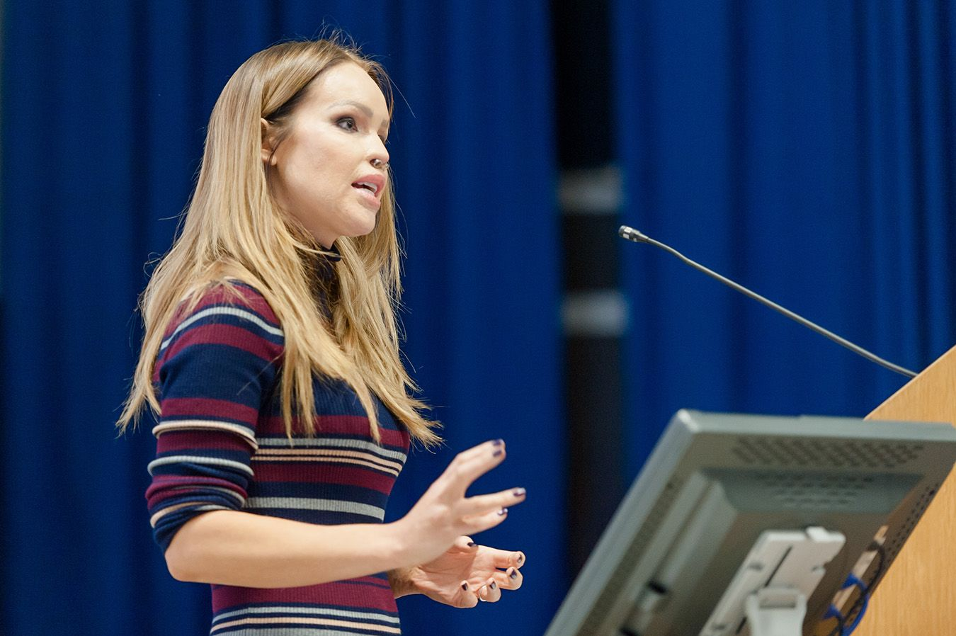 Acid attack survivor Katie Piper told an audience of more than 200 students at Kingston University  how she had learned to hold onto hope