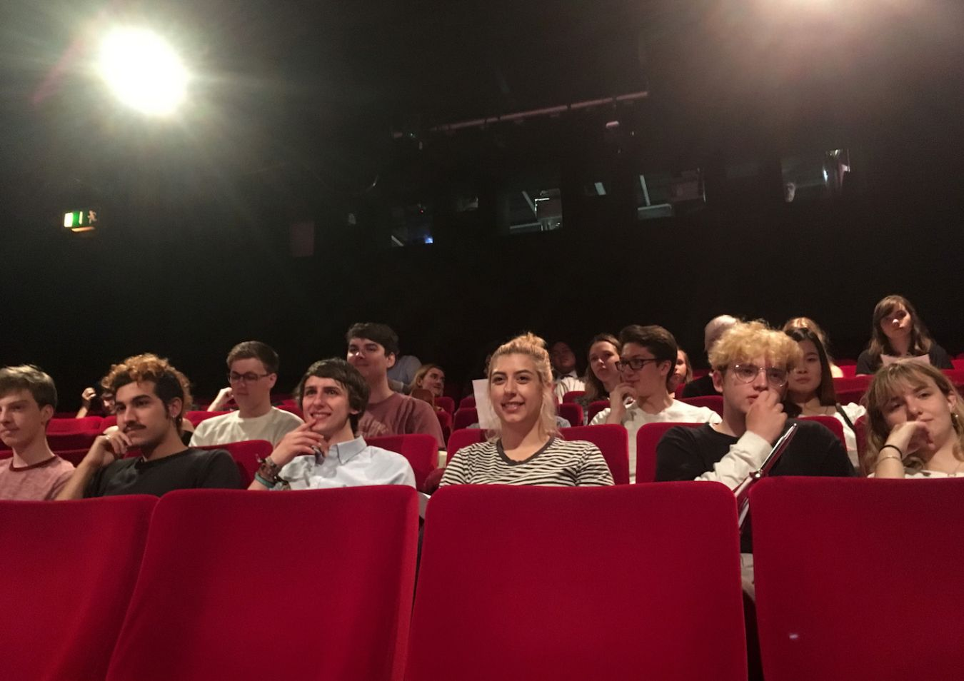 Kingston Filmmaking students watch their films in NFT3 at the BFI, 2017
