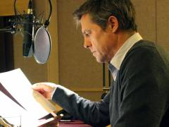 Hugh Grant reads extract from the Duke of Wellington's description of the Battle of Waterloo to promote Kingston University Journalism professor Brain Cathcart's new book