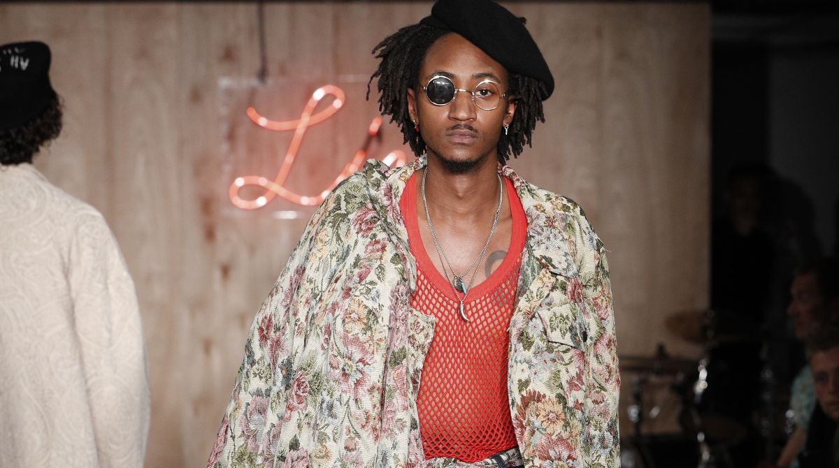 Kingston University designer Leyman Lahcine draws inspiration from Nobel Peace Prize winners in latest catwalk collection
