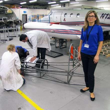 Learjet hangar at Roehampton Vale campus