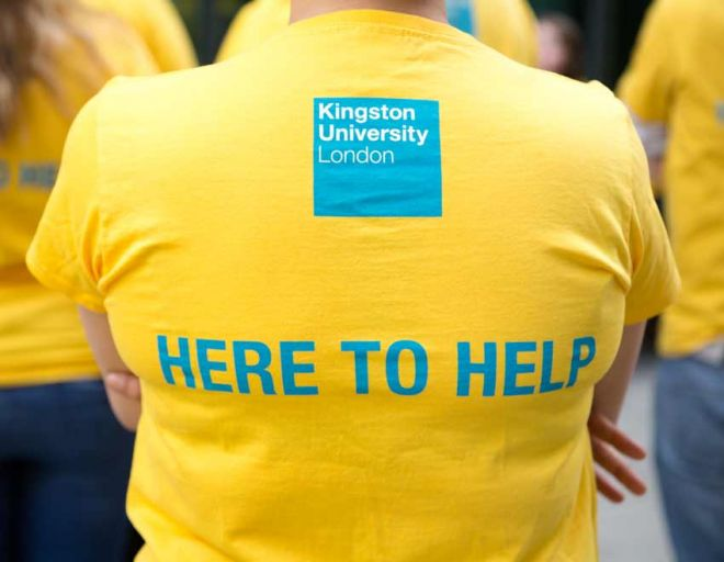 Student ambassador greeting Kingston University international students at the airport
