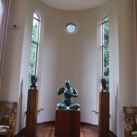 Dora Gordine's sculptures on display in Dorich House