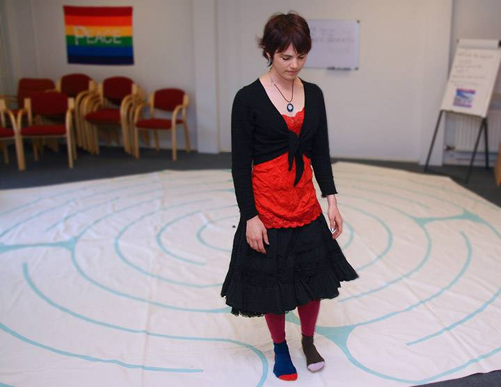 Prayer labyrinth at the Spirituality Centre