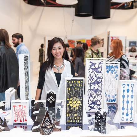MA art and design student exhibits her work