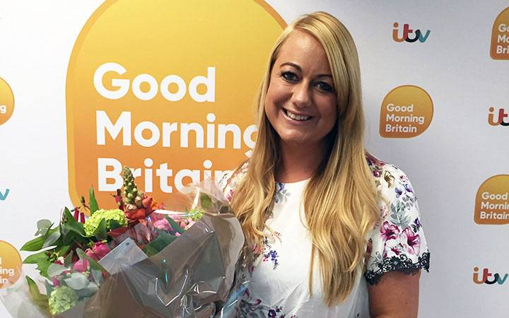 Kingston University trained midwife shines bright after receiving ITV's Good Morning Britain award for outstanding role in helping bereaved families