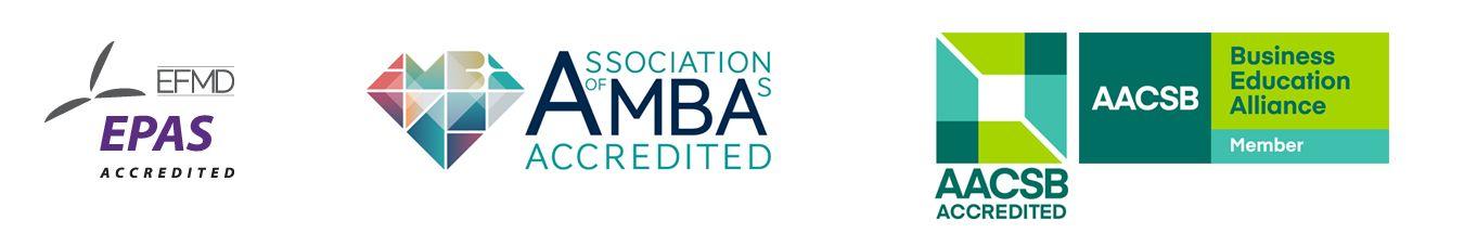 AACBS, AMBA and EPAS logos