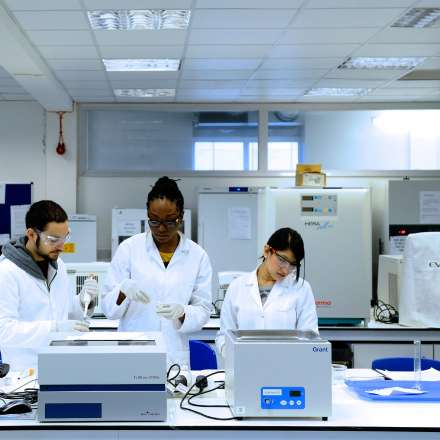 Science laboratory at Penrhyn Road campus