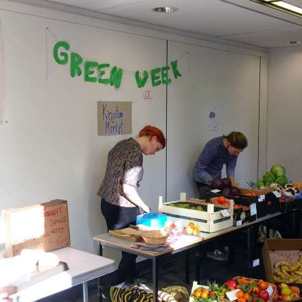 Fruit and Vegetable stall on campus