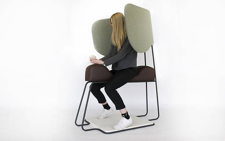 Kingston University product and furniture design graduate sets her sights on bringing meditation and relaxation to airports with Meditasi Chair