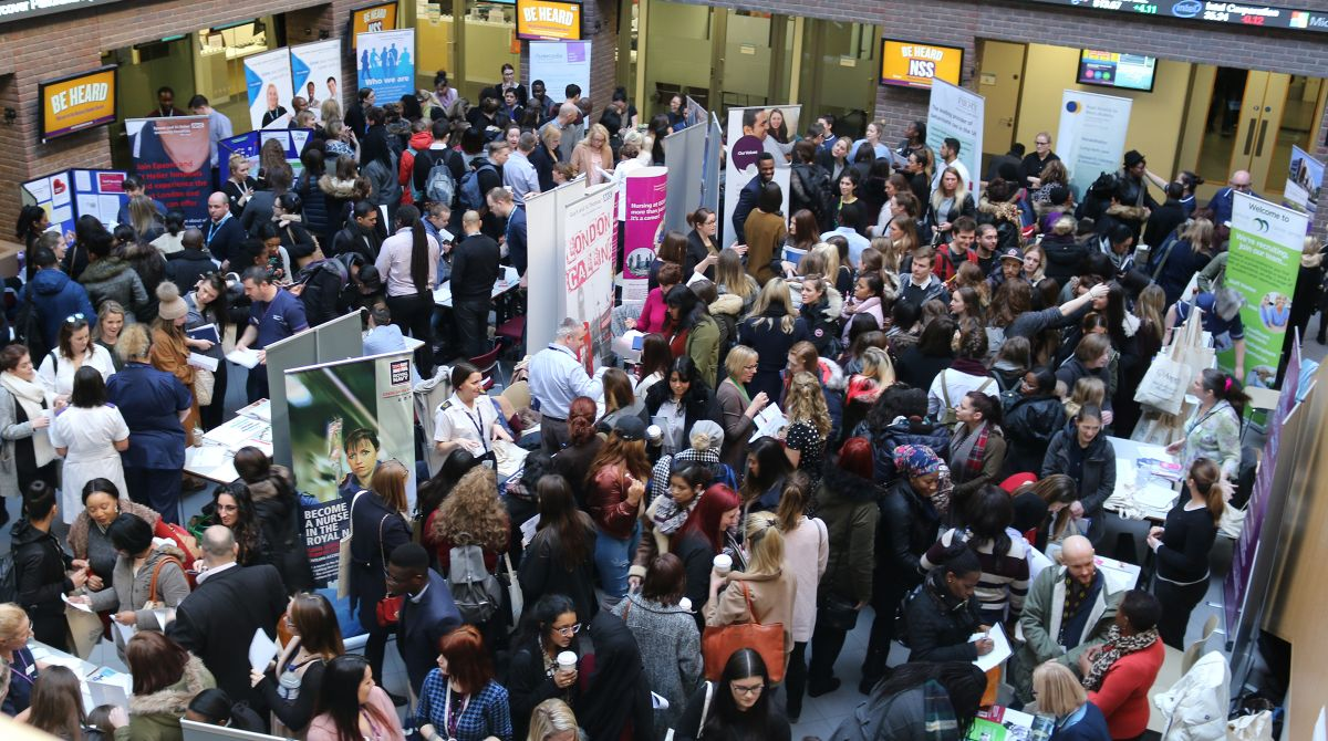 Kingston University's practice-based nursing degrees praised as health employers flock to careers fair in bid to snap up exceptional students