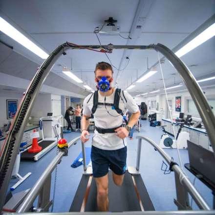 Student on treadmill