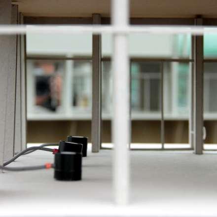 Megatron light detector showing sensors inside model