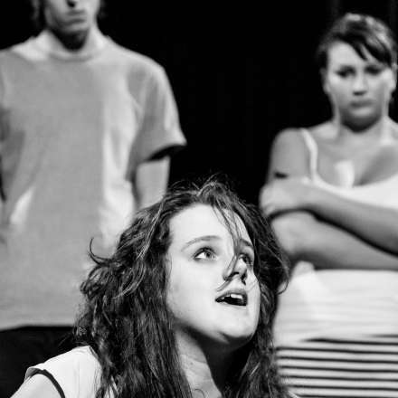 DNA, by Dennis Kelly. Student directed Theatre Workshop production (2014)
